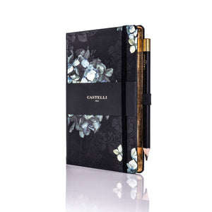 Castelli - Midnight Floral Notebook - Hydrangea