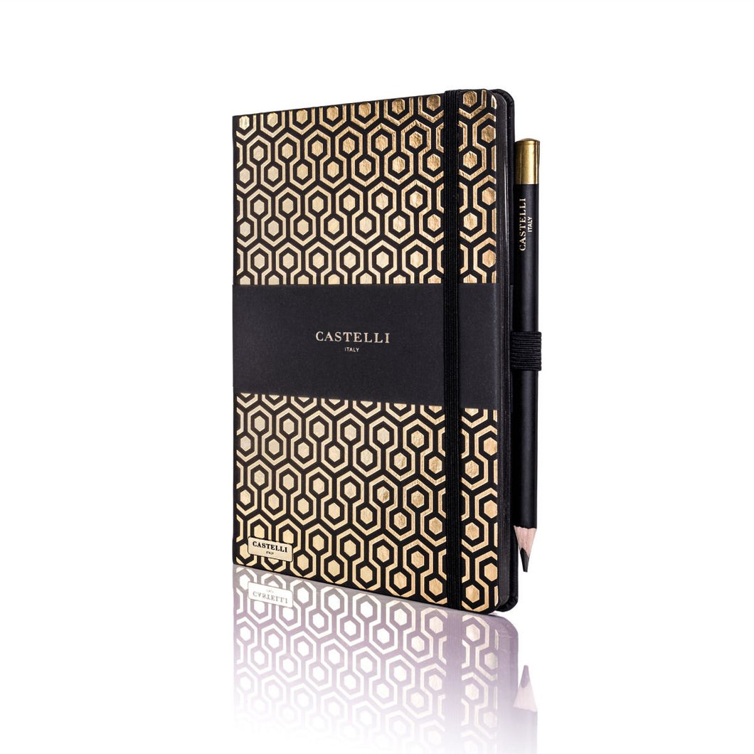 Castelli Honeycomb Gold Notebook