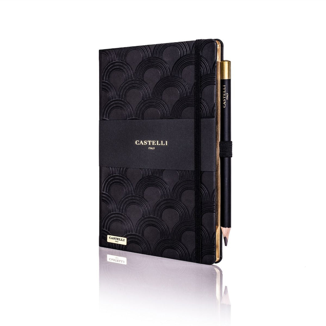 Castelli Art Deco Black Notebook
