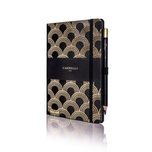 Castelli Art Deco Gold Notebook