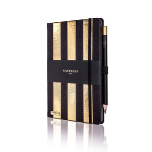 Castelli Stripe Gold Notebook