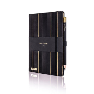 Castelli Stripe Black & Gold Notebook