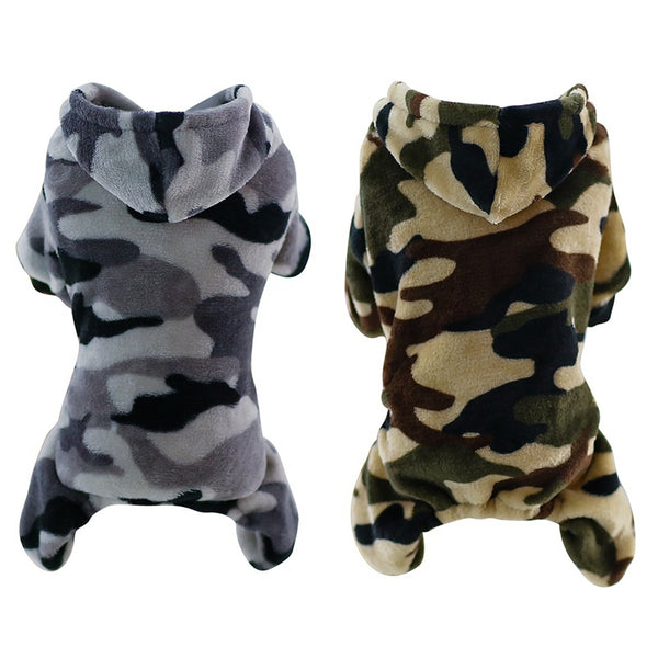 Camouflage Fleece Pet Dog Clothes