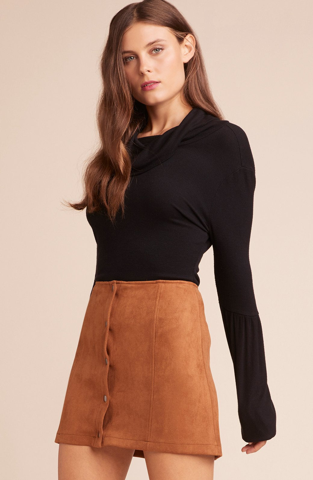 Can't Buy Me Love Snap Front Skirt - Refinery