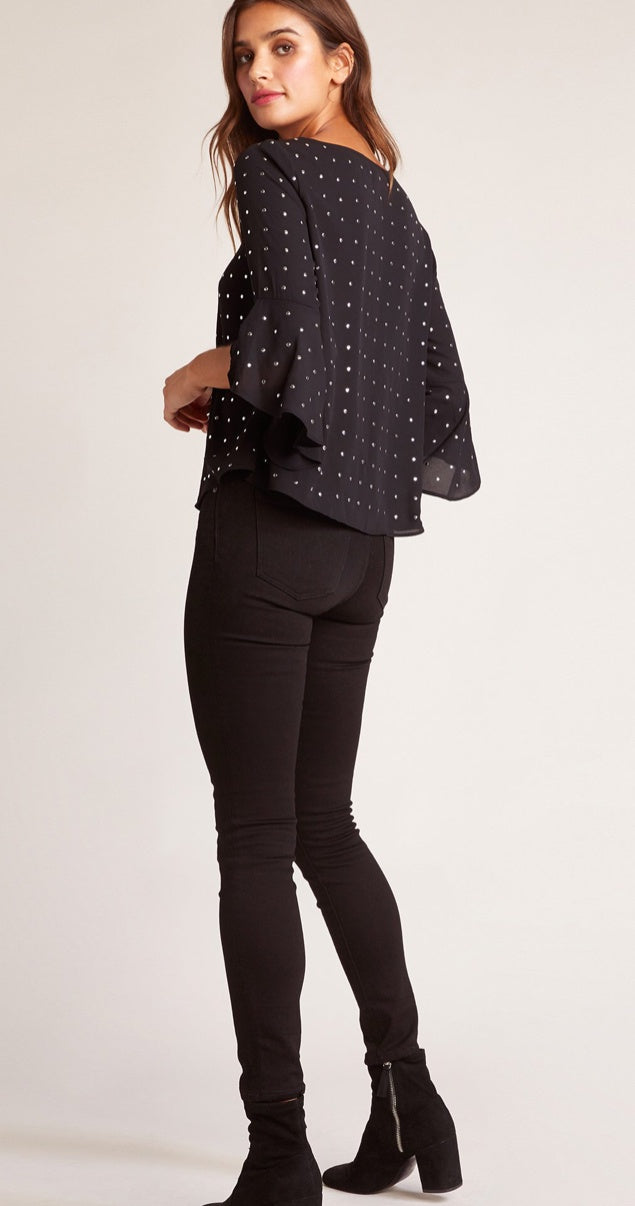 Tell Me About It Studded Top - Refinery