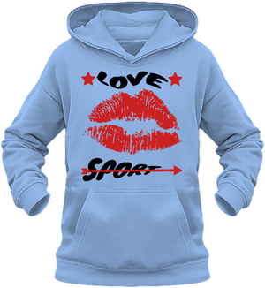 "Sweat Fille Capuche ""LOVE SPORT"""
