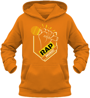 sweat enfant capuche-rap music-maître Gims-Soprano-orange-vêtements-funriesone