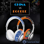 Casque Bluetooth Fashion-girly-femme-fun-sans fil-avec micro-gamer-high tech-Casque sans fil-original-orange-pas cher-FunriesOne