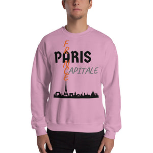 Sweat Homme personnalisé-Paris-capital-France-Rose-Vetements-funriesone
