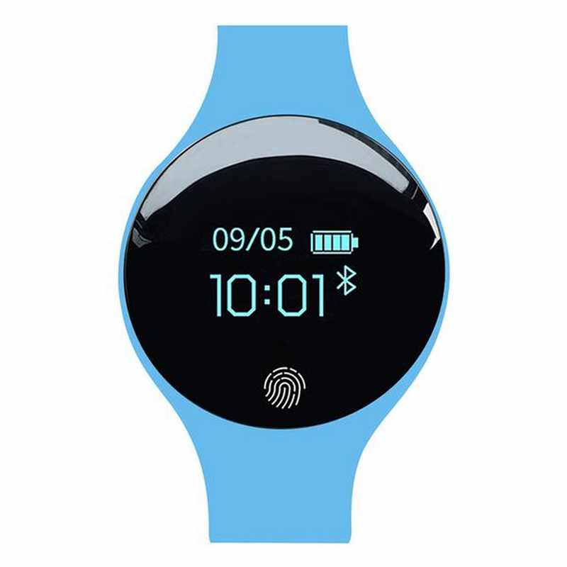 Montre connectée-Ios-android-montre sport-homme-femme-tracker-tracker de sommeil-notification d'appel-calendrier complet-résistant aux chocs-et-projection d'eau-étanche-déclencheur-photo-à-distance-affichage LED-rétro-éclairage-Bluetooth-date automatique-notifications-message-et-appel-chronographe-alarme-Bracelet-bleu-high-tech-funriesone