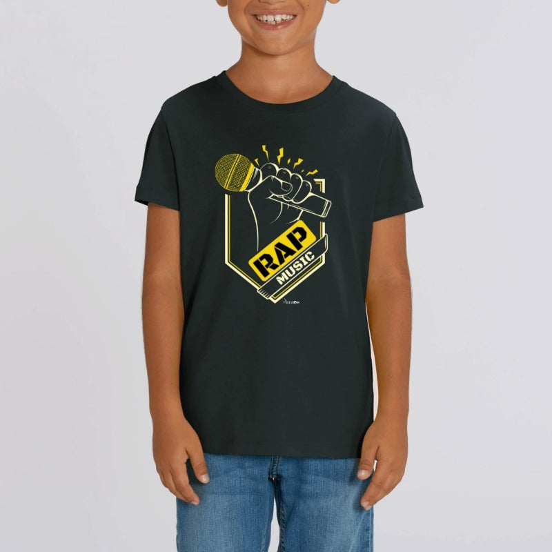 "T-Shirt Bio Enfant ""RAP MUSIC"""