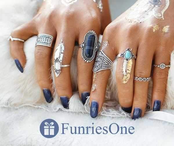 Lot de 8 Bagues New Delhi-Bague-FunriesOne