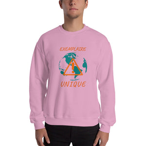 Sweat Hommes sans capuche-militant-écologie-terre-nature-protection-pollution-Rose Clair-FunriesOne