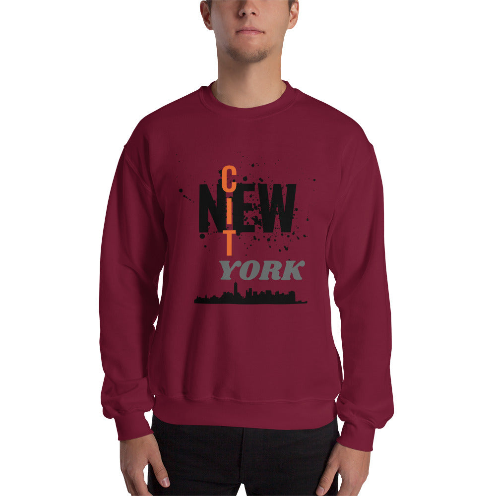 T-Shirt Homme-New york City-amérique-Ville-Capitale-usa-cadeau-tee shirt-message-bordeaux-vêtement-funriesone
