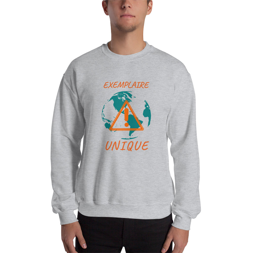 Sweat Hommes sans capuche-militant-écologie-terre-nature-protection-pollution-Gris-FunriesOne