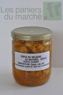 Conserves - Cèpes au naturel - 450 ml