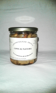 Conserves - Cèpes au naturel - 445 ml