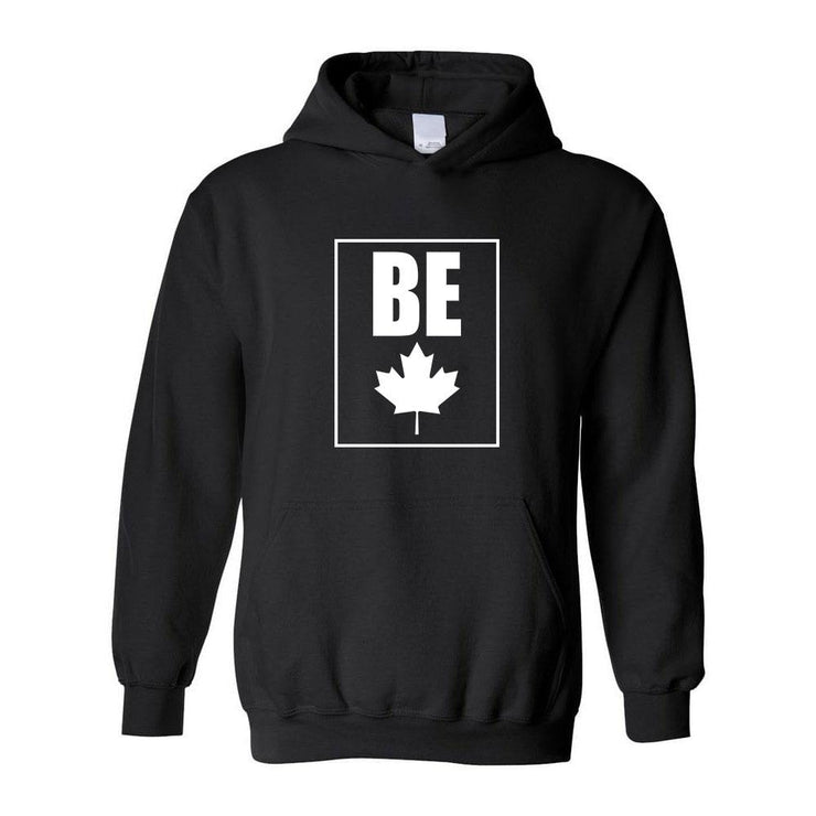 Be (Maple Leaf) Adult Hoodie, Large