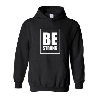 Be Strong, Adult Hoodie, Small, Black