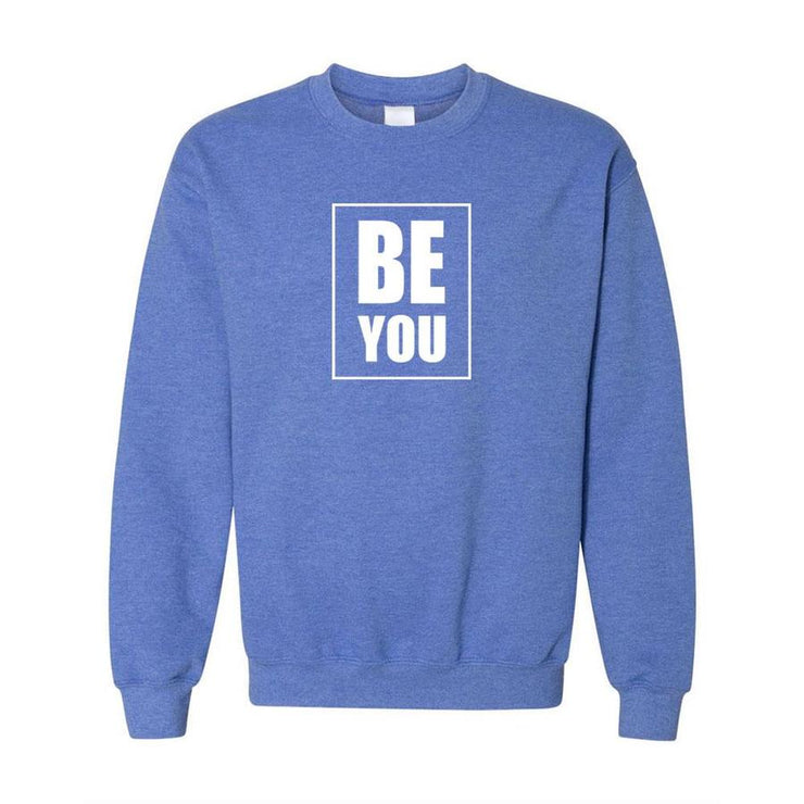 Be You, Adult Crewneck, XL, Royal