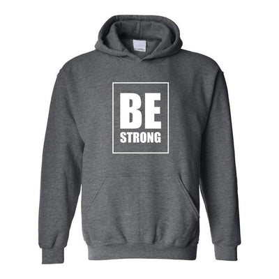 Be Strong, Adult Hoodie, L, Dark Grey