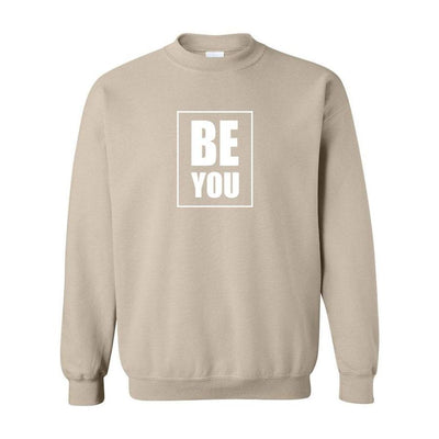 Be You, Adult Crewneck, Med, Oatmeal