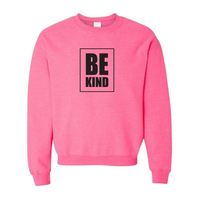 Be Kind, Adult Crewneck, 2XL, Pink (Minor Defect)