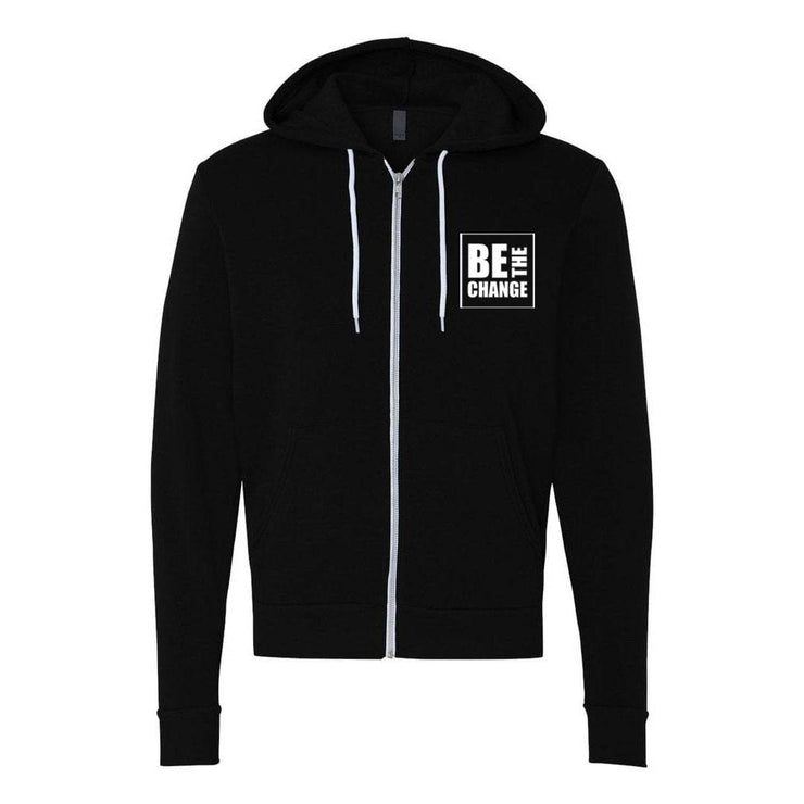 Be The Change Adult Zip Up Hoodie
