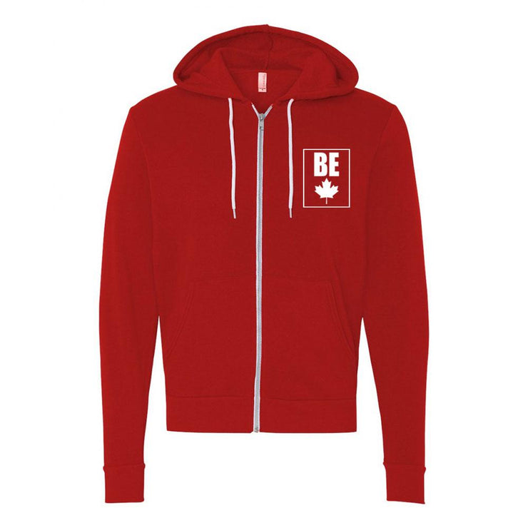 Be (Maple Leaf) Adult Zip Up Hoodie