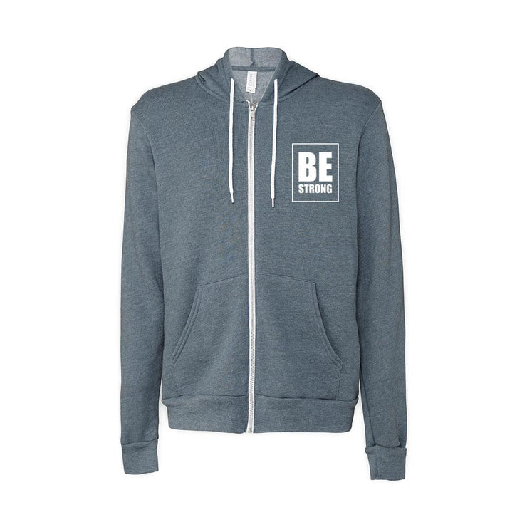 Be Strong Adult Zip Up Hoodie