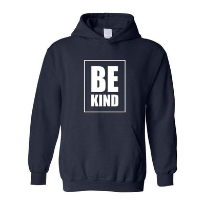 Be Kind, Adult Hoodie, L, Navy