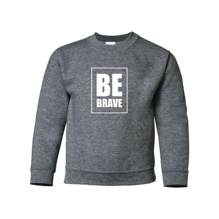 Be Brave Youth Crewneck
