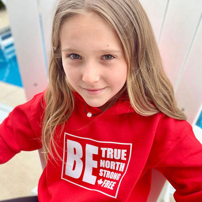 Be True North Strong Free Youth Hoodie