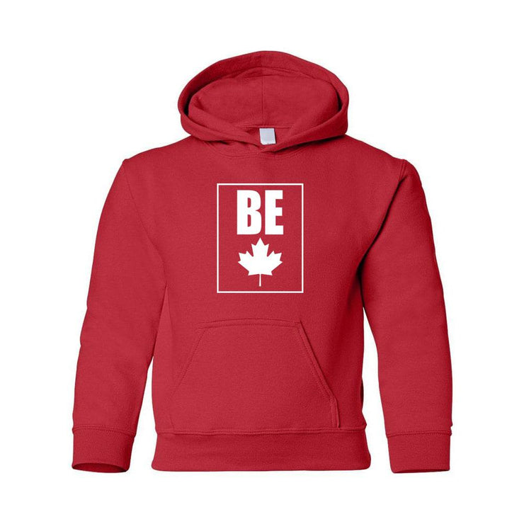 Be (Maple Leaf) Youth Hoodie, X-Small
