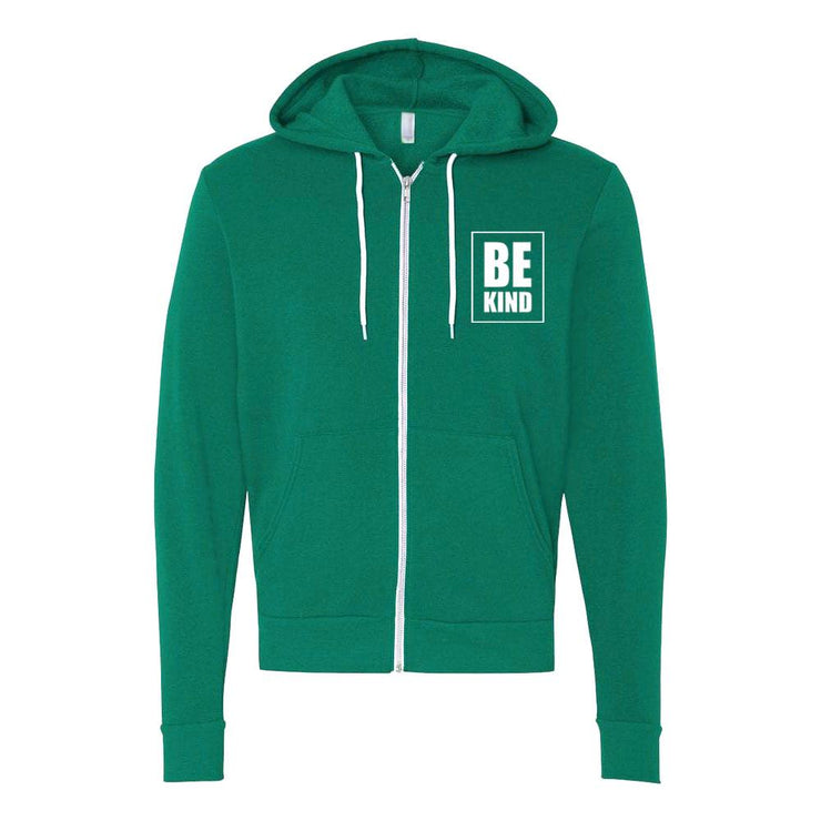 Be Kind Adult Zip Up Hoodie