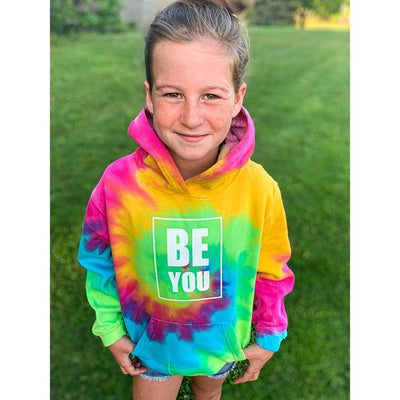 Be You, Youth Hoodie, M, Cabana