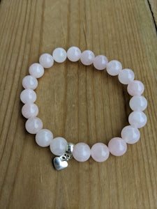Rose Quartz with Heart
