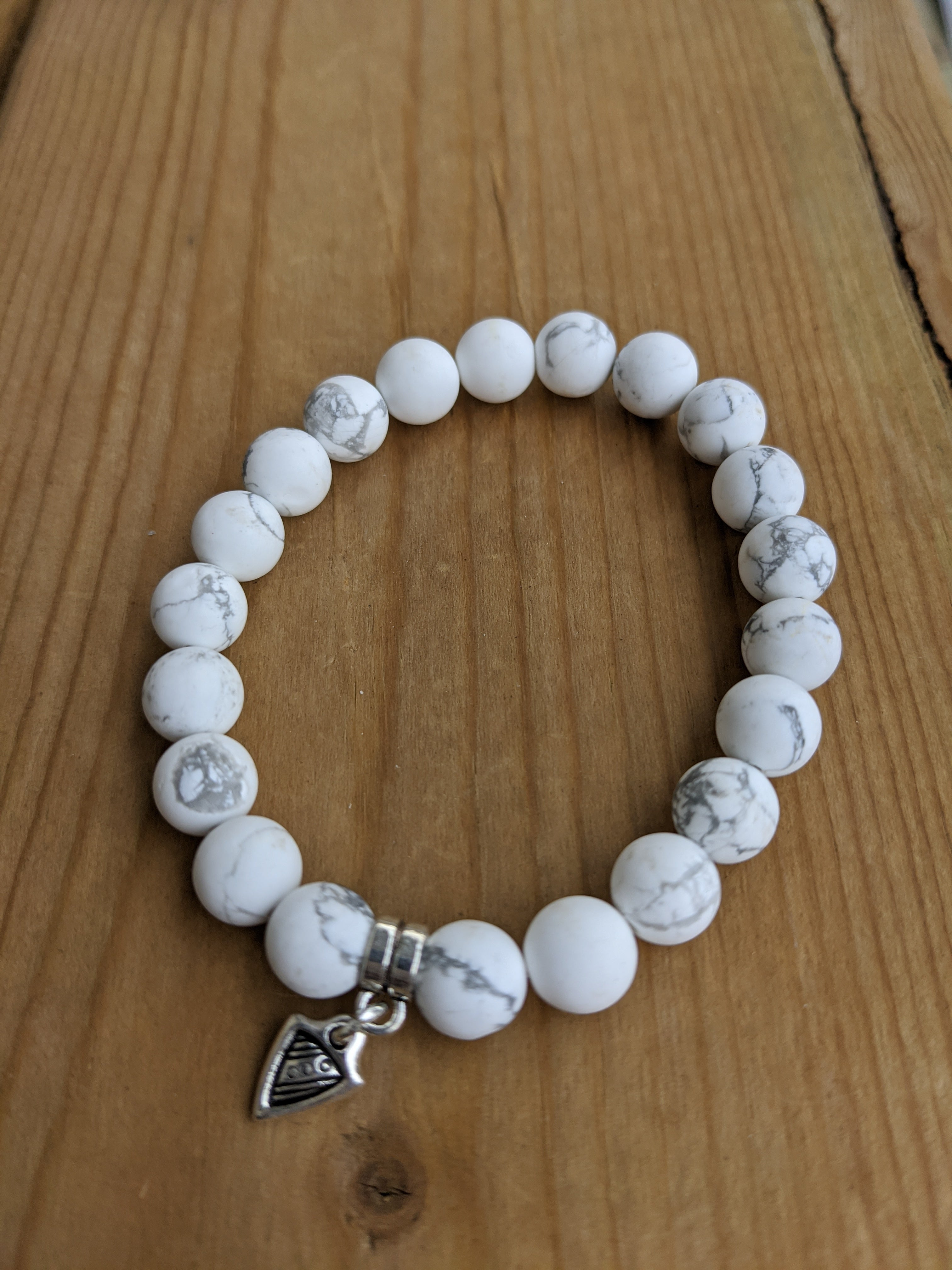 Howlite with Dart Charm