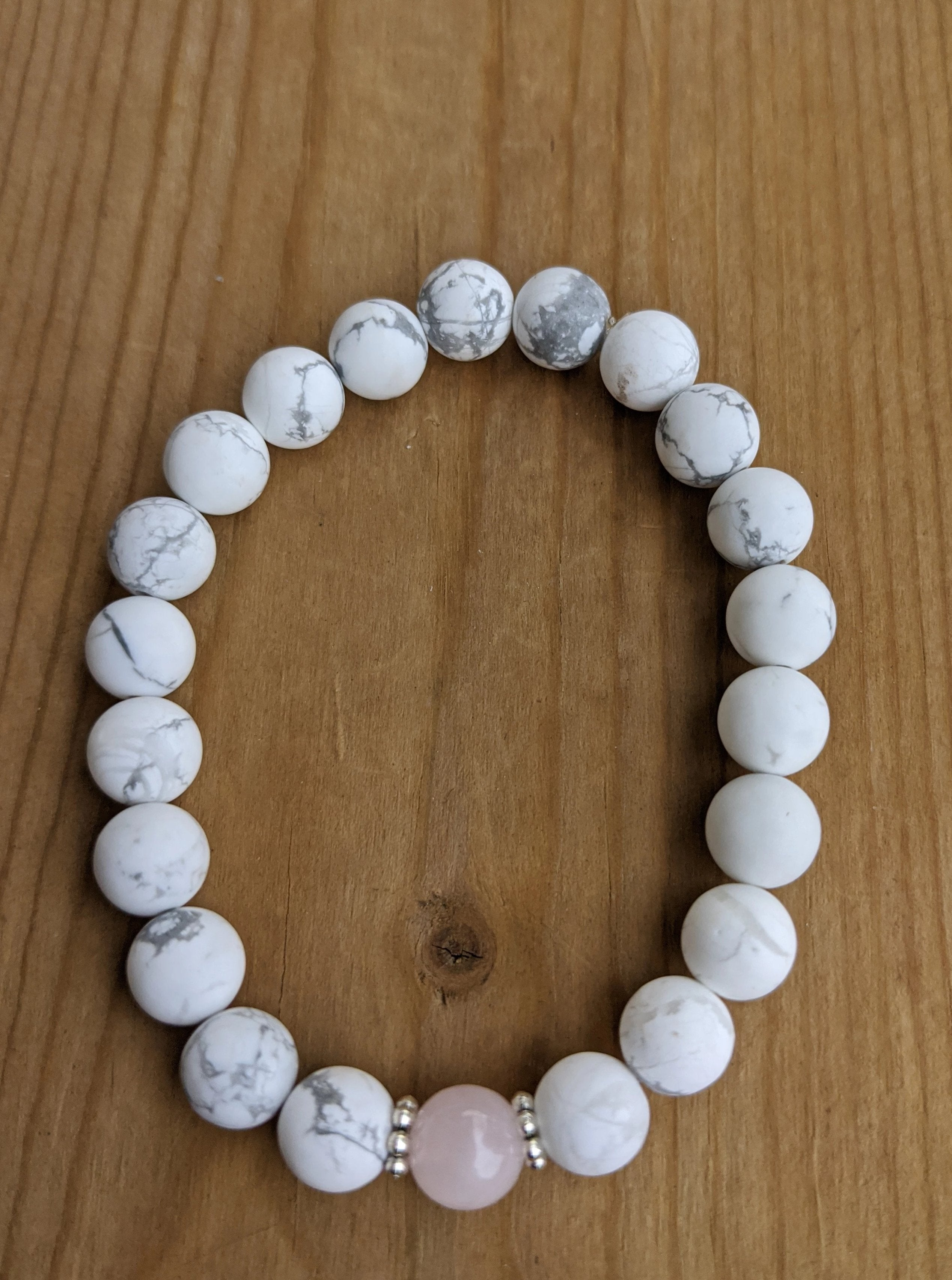 Howlite with Rose Quartz