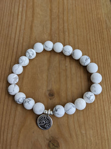 Howlite with Tree of Life Charm