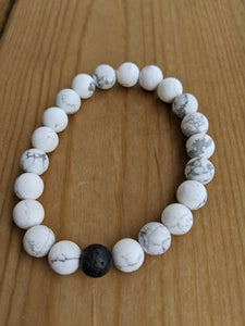Howlite with Lava