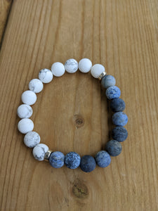 Dumortierite and Howlite