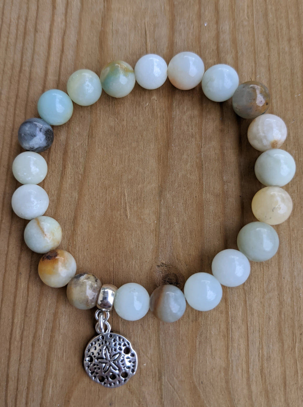 Amazonite with Sand Dollar Charm