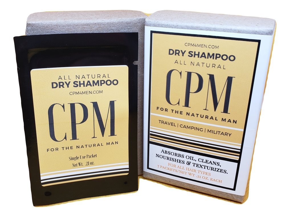 All Natural Dry Shampoo Packets for Men - ChristinaPURE