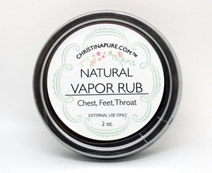 All Natural Vapor Rub - ChristinaPURE