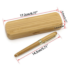 Bamboo Fountain Pen with Converter and Case - ChristinaPURE
