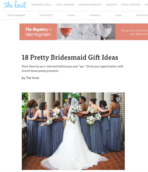 The Knot 18 Pretty Bridesmaid Gift Ideas