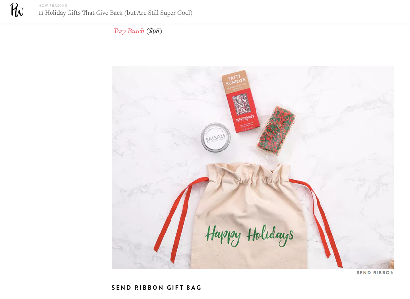 Purewow: 11 Holiday Gifts That Give Back (but Are Still Super Cool)