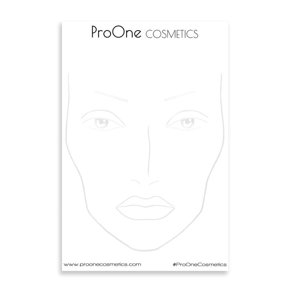 Face Chart Pads (30 pages) 2 eyes open