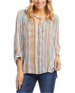 Karen Kane Blouse - striped